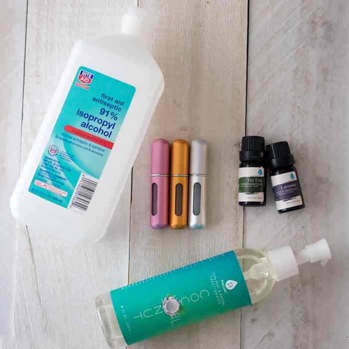 How to Make Hand Sanitizer Spray