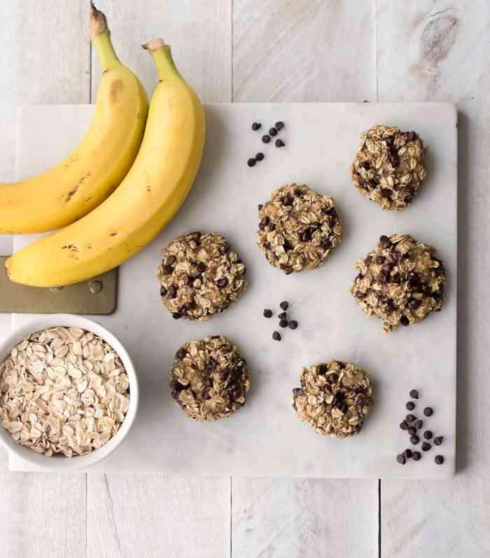 3 Ingredient Banana Oatmeal Cookies Vegan and Gluten-free