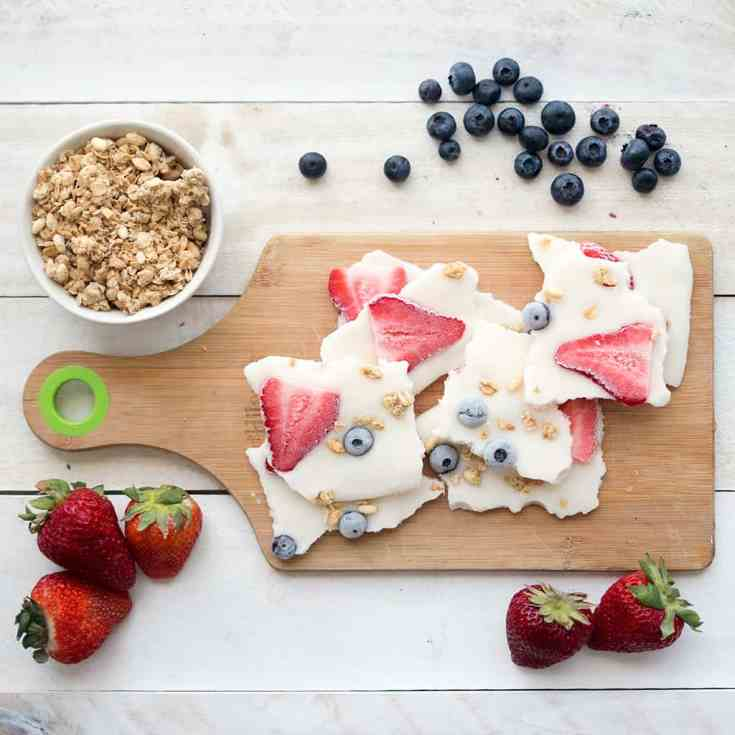 Vegan Yogurt Bark