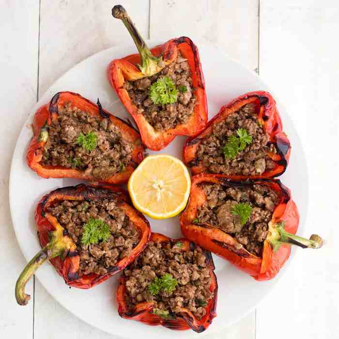 Grilled Vegan Stuffed Peppers
