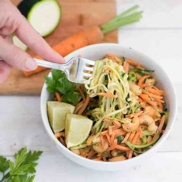 Super Easy Vegan Zoodles with Peanut Lime Sauce