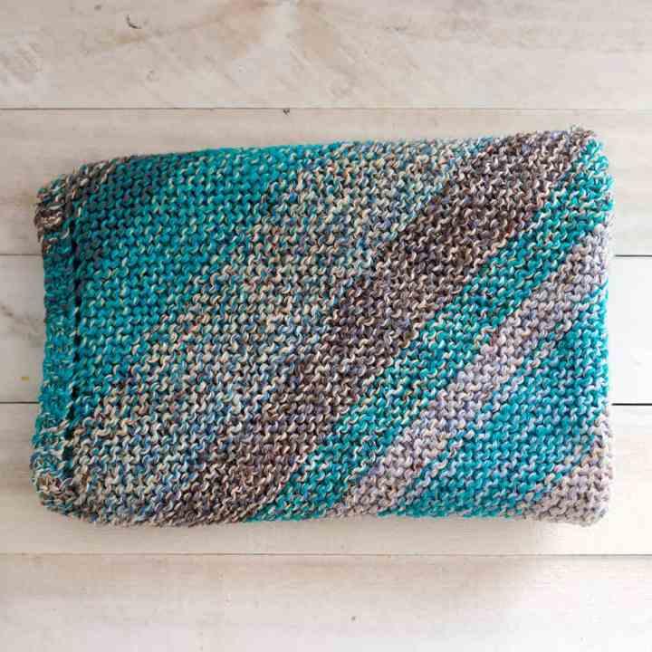 Easy Scrap Yarn Baby Blanket Knitting Pattern