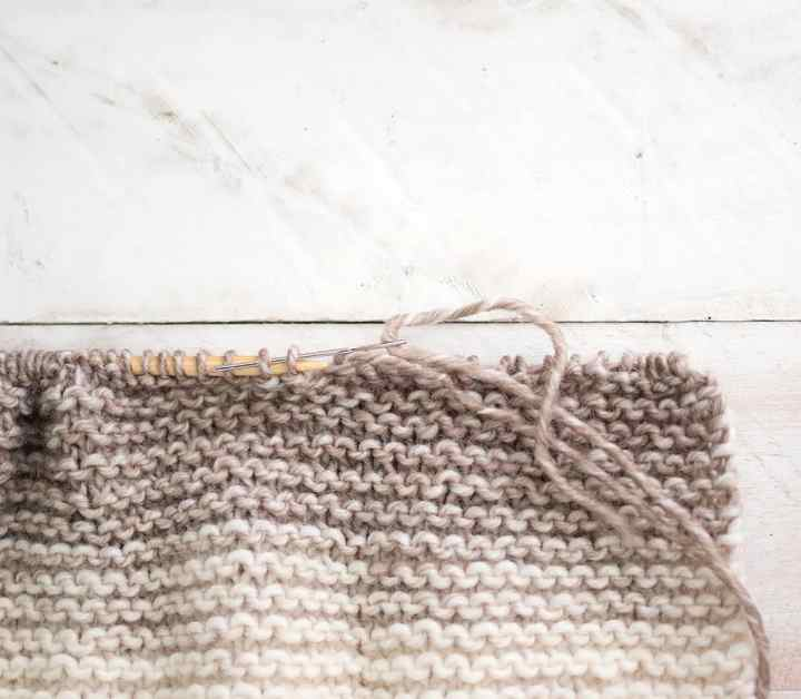 Easiest Flat Knit Kids Garter Stitch Hat