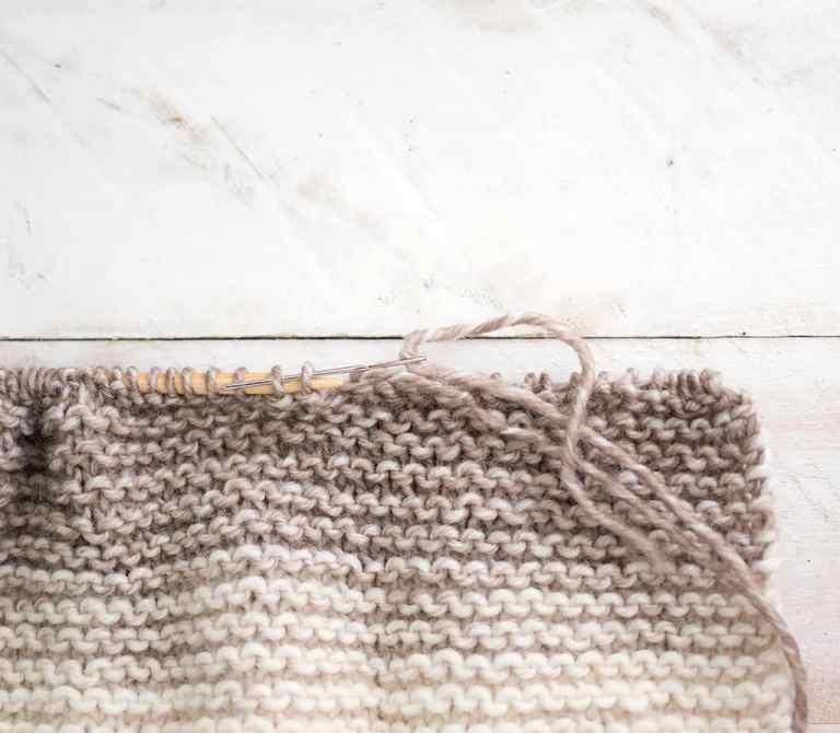 Easiest Flat Knit Kids Garter Stitch Hat