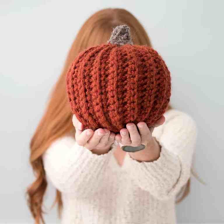 Easiest Large Pumpkins Crochet Pattern