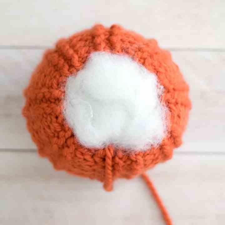 Straight Needle Knit Pumpkin