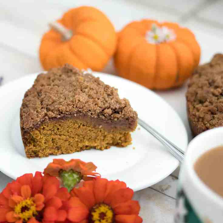 Vegan Pumpkin Coffee Cake