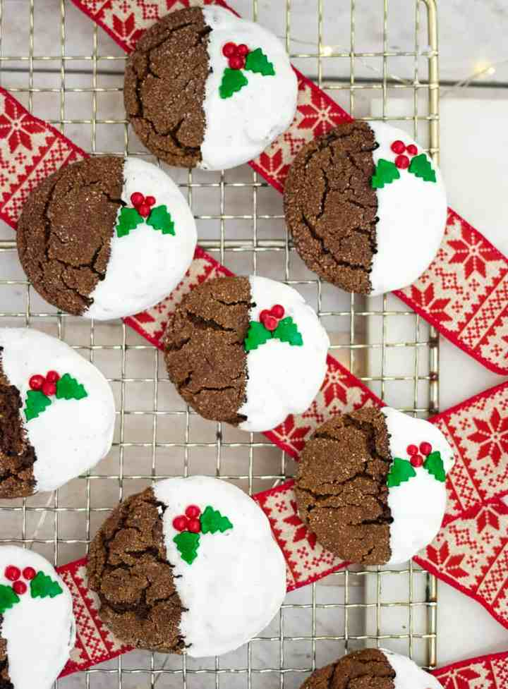 Soft and Chewy Vegan Ginger Christmas Cookies