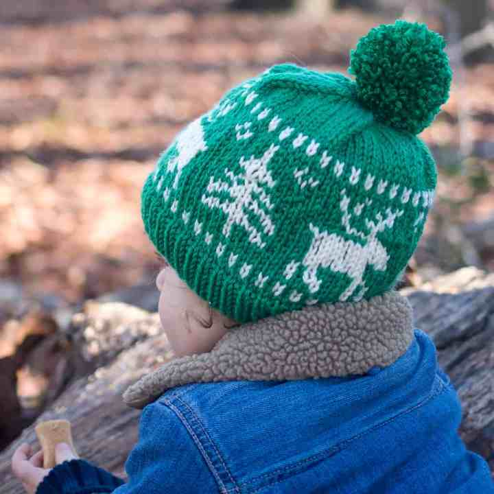 Kids Nordic Reindeer Hat Knitting Pattern
