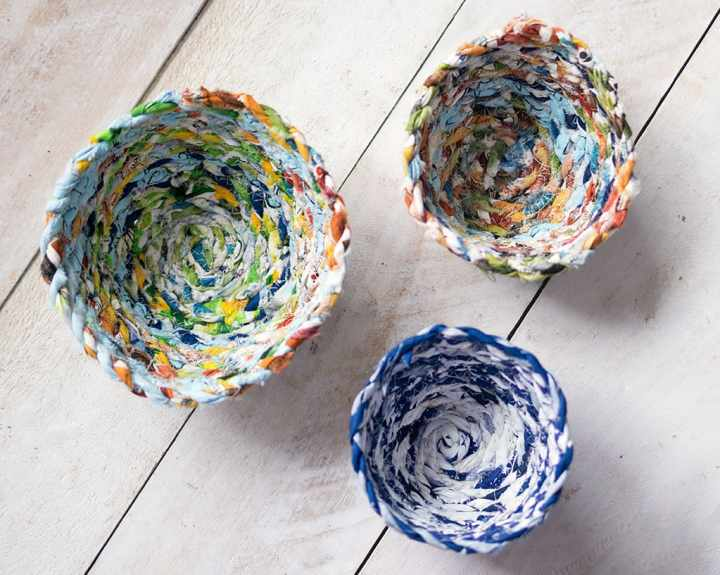 How to Sew a Bowl from Fabric Scraps
