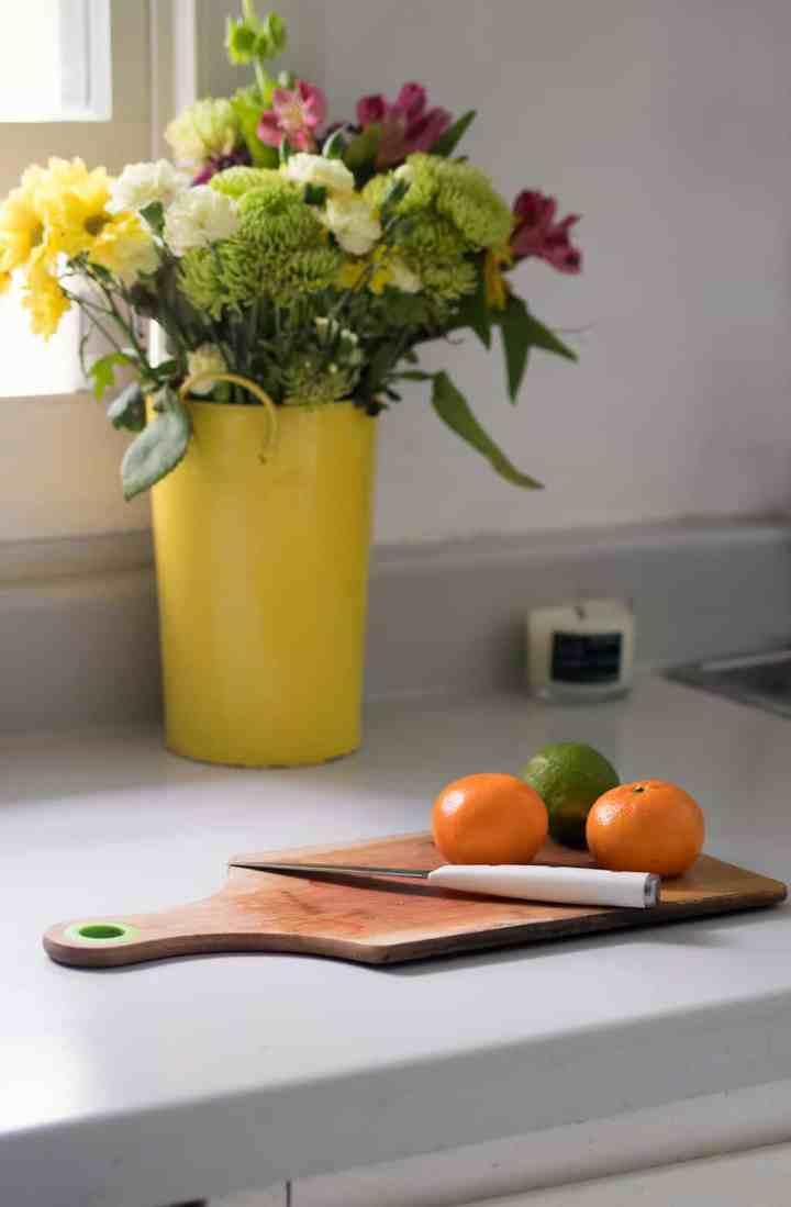 $20 Laminate Kitchen Countertop Makeover