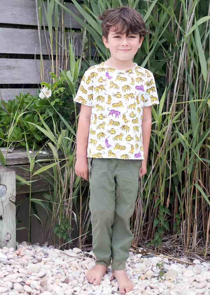 Free T-Shirt Sewing Pattern for Boys and Girls