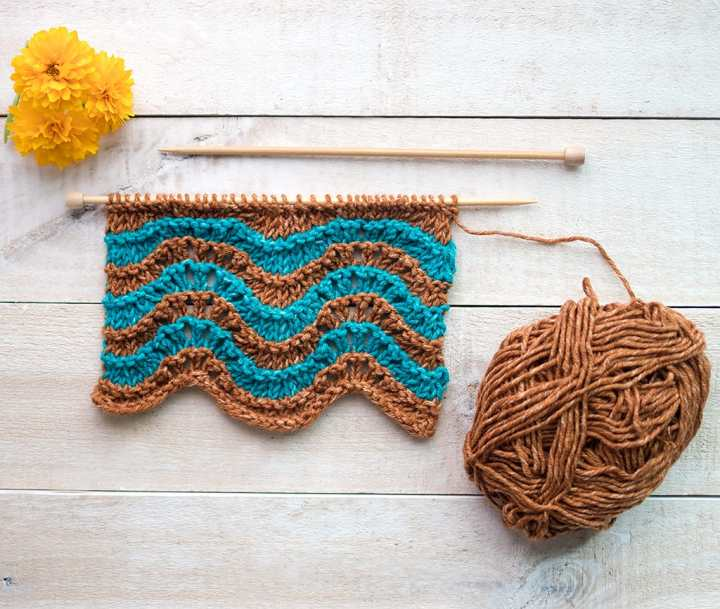 How to Knit the Feather and Fan Stitch