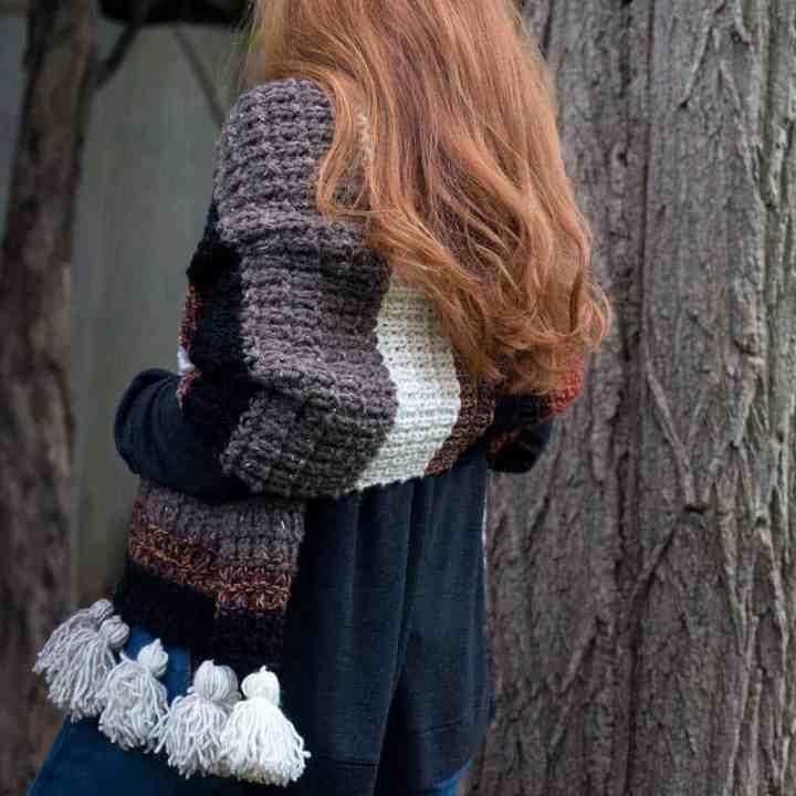 Easy Scrap Yarn Scarf Knitting Pattern