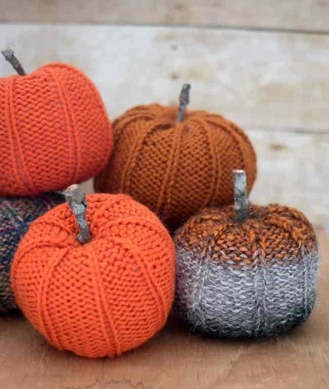 Scrap Yarn Pumpkin Knitting Pattern