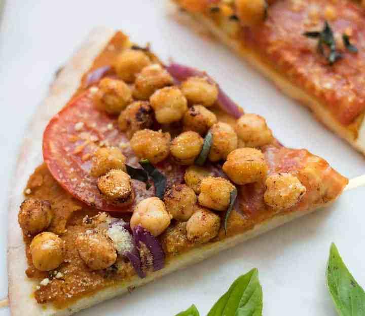 Vegan Pumpkin Chickpea Pizza