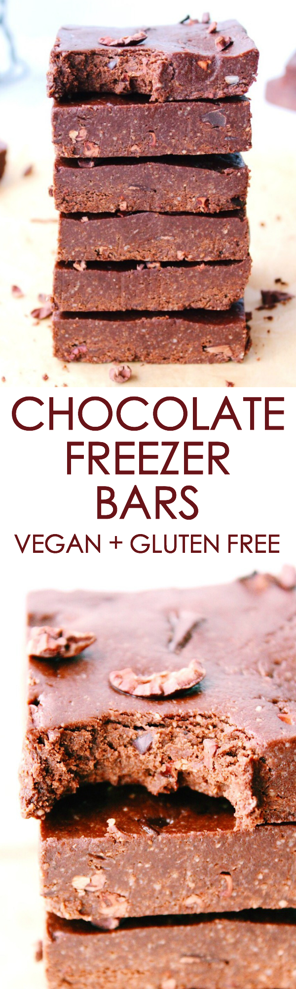 Chocolate Freezer Bars {vegan, gluten free}