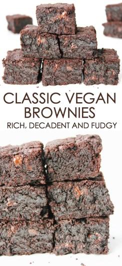 classic vegan brownies