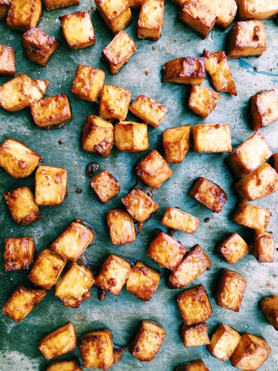 Perfect crispy baked tofu