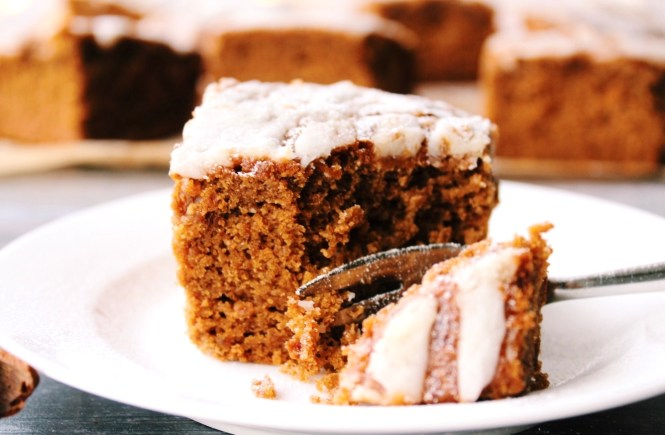 Vegan Gingerbread Cake with Lemon Icing