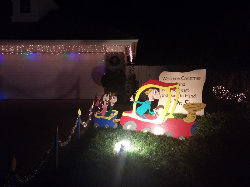 A Dr. Seuss display on Candy Cane Lane, Camarillo, California