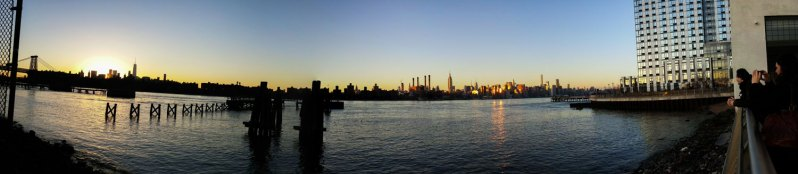 panorama of Manhattan skyline