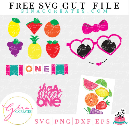 free svg fruit party decorations