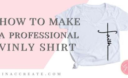 How to make a Professional Vinyl T-shirt using your Cutting Machine