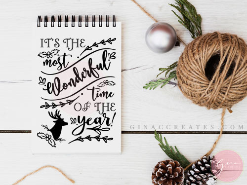 It S The Most Wonderful Time Of The Year Free Svg Cut File Gina C Creates