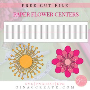 giant paper flower center svg