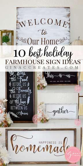 best holiday farmhouse wood sign ideas