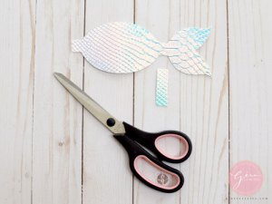 mermaid tail hair bow diy