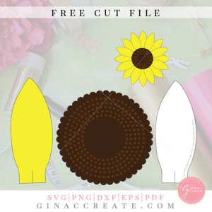 mini paper sunflower svg