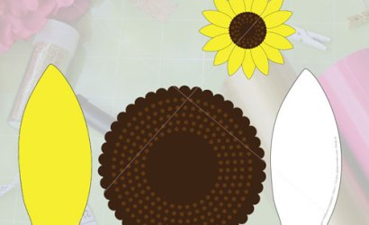 DIY Paper Sunflower with free SVG & template
