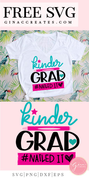 kinder grad, graduation shirt free svg