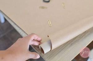 make a giant paper scroll
