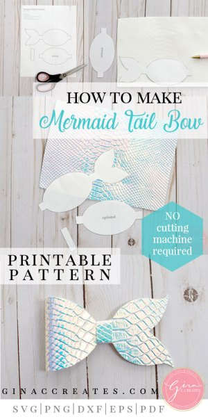 how to make a mermaid tail bow