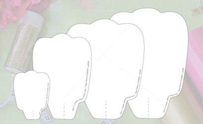 Free Paper Flower Template | Printable & Cut File