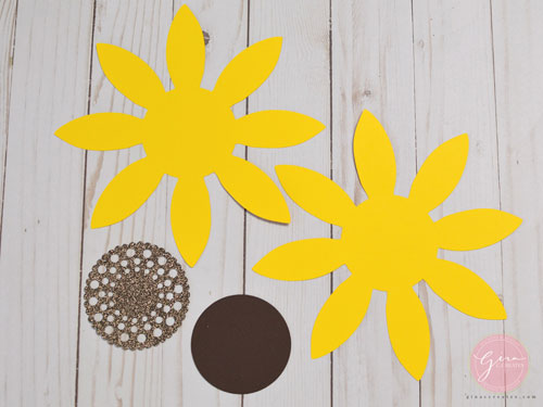picture regarding Free Printable Sunflower Template identify Do it yourself Paper Sunflower with absolutely free SVG template Gina C. Generates