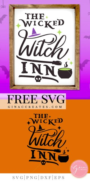 the wicked witch inn free svg