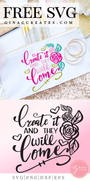 create and they will come svg, crafty svg