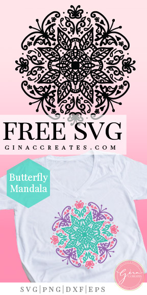 butterfly mandala svg cut file, cricut spring ideas