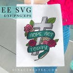 christian crafts, nope not today svg cut file
