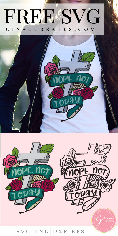 christian shirt ideas, nope not today free svg