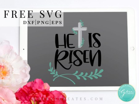 EASTER SVG, HE IS RISEN FREE SVG
