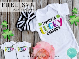 mommy's lucky charm free svg