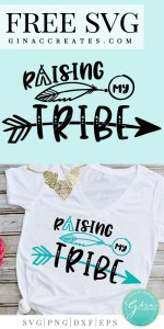 mom t-shirt ideas, raising my tribe svg cut file
