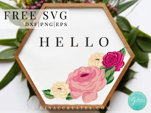 free spring flowers for cricut