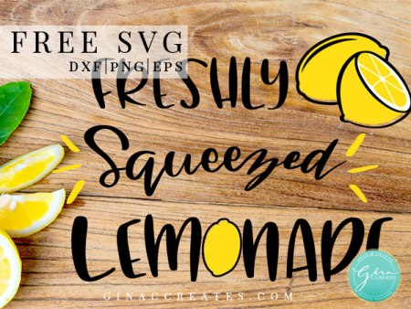 lemonade free svg cut file