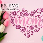 mother's day free svg, mom heart svg